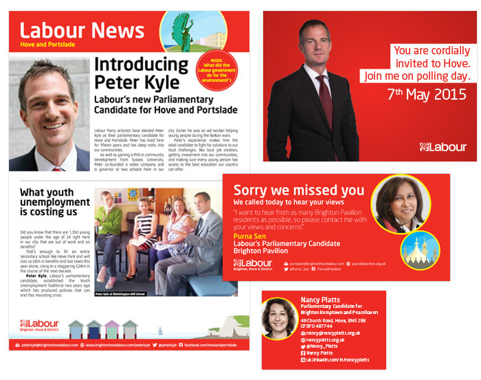 Refreshed Labour election campaign design materials