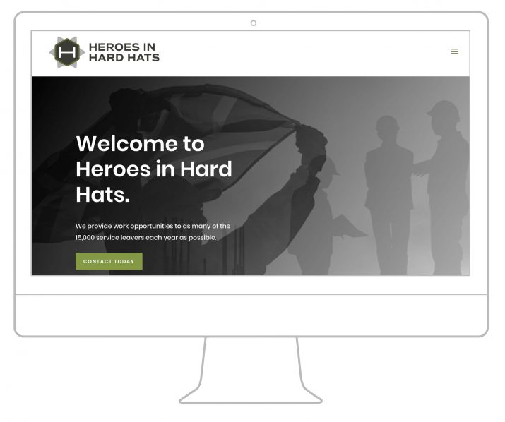 Heroes in Hard Hats logo on the website