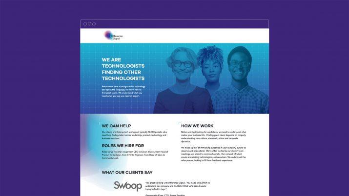 Recruitment agency branding website detail