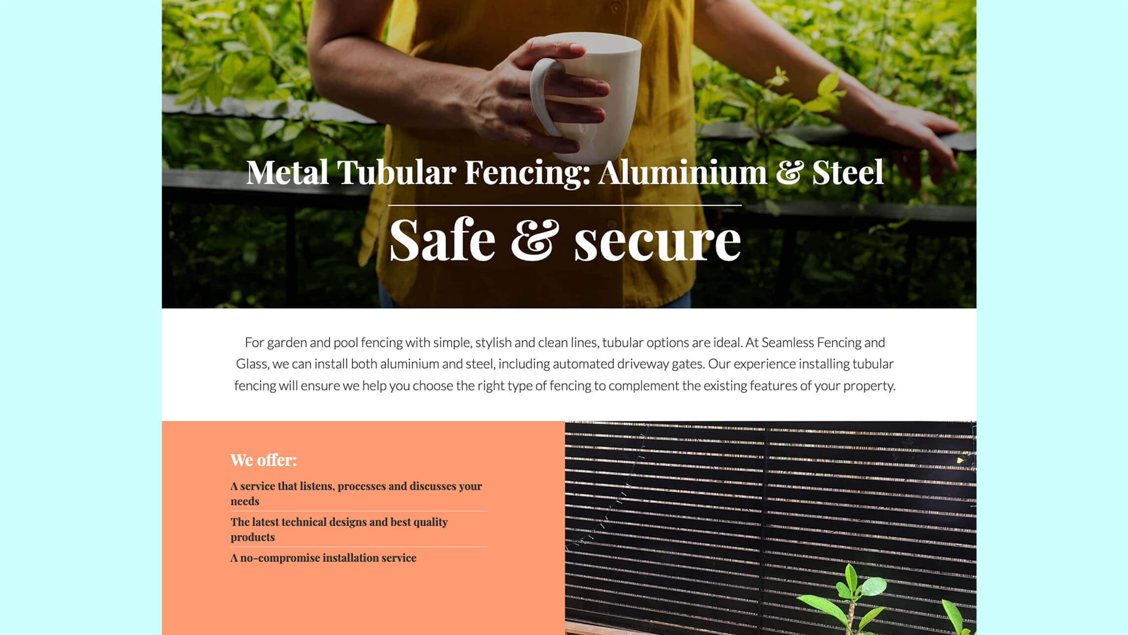Construction company website detail